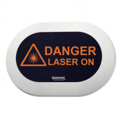LED laser warning signs