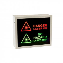 Illuminated Laser Warning Sign (2-Way)